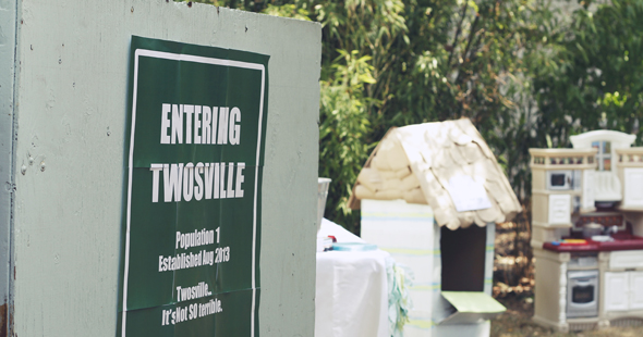 Entering twosville