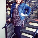 Plus size style from A Well Crafted Party: Ankle Pant, Kitten Heels, and Tunic