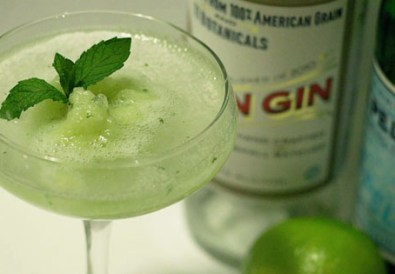 Melon & Mint Granita Cocktail