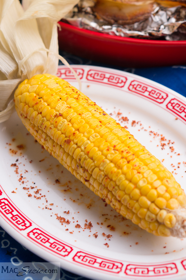 In Husk Roasted Corn featured on A Well Crafted Party