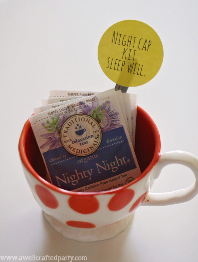 Night Cap and House Guest Welcome Free Printables // A Well Crafted Party