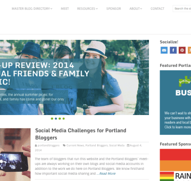 Portland Bloggers Website Redesign // A Well Crafted Party