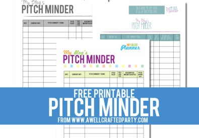 Free Printable Pitch Minder // A Well Crafted Party