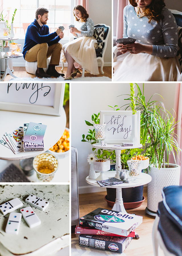 New Year's Eve Game Night + Free Printables // A Well Crafted Party - Photos via Mary Boyden View More: http://maryboyden.pass.us/newyearseveparty