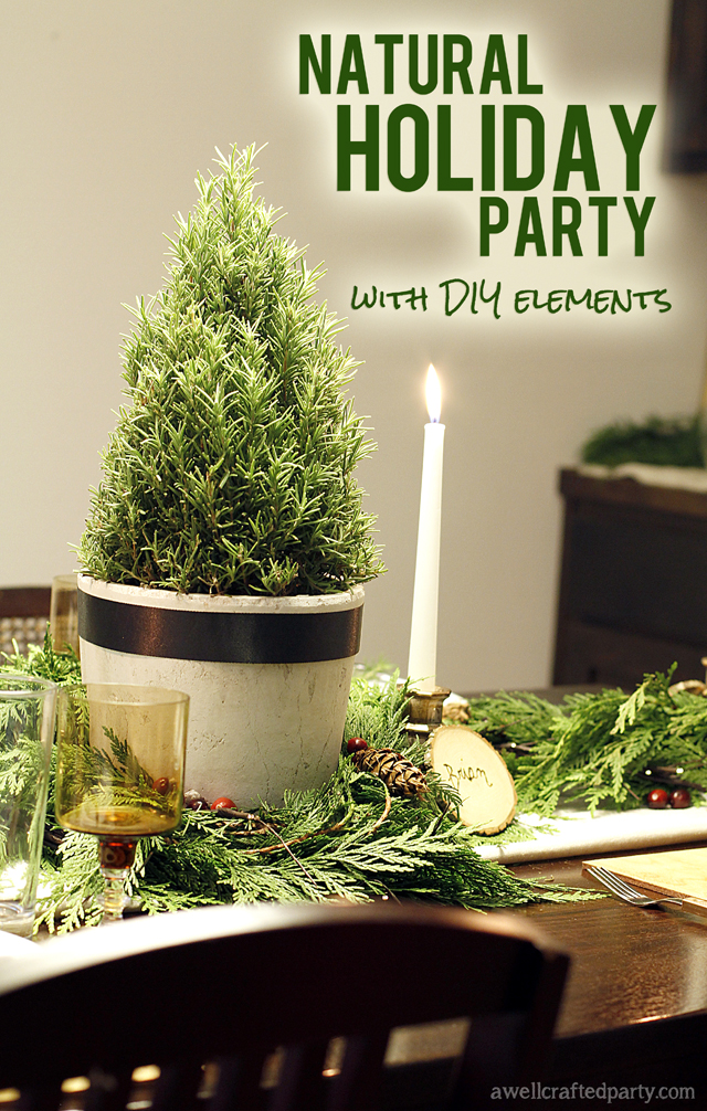Natural Holiday Party with DIY Elements // A Well Crafted Party