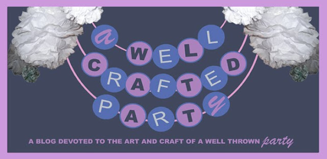 Very first blog banner for A Well Crafted Party
