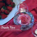 Sequin Vase with Floating Flower - A Well Crafted Party