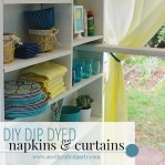 DIY dip dyed linens via A Well Crafted Party