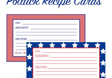 Free Printable Potluck Recipe Cards - A Well Crafted Party