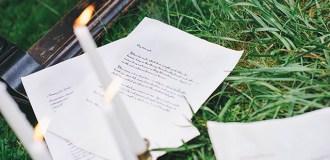 Love Letter Wedding Photoshoot