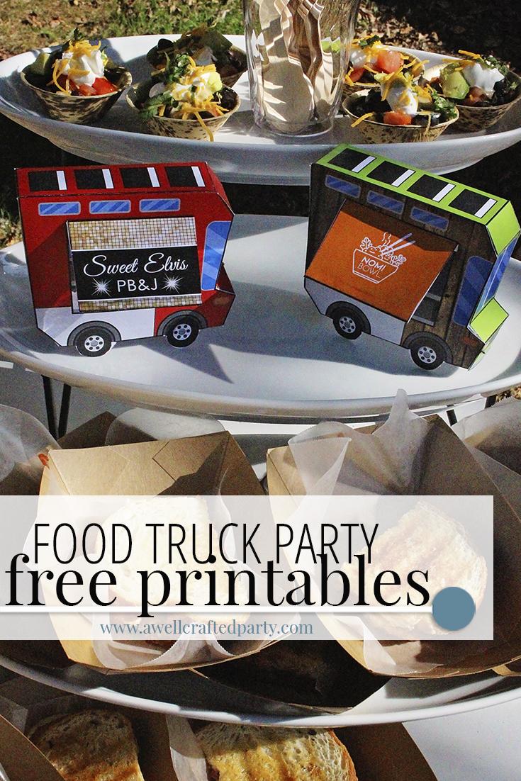 Free Food Truck Printables