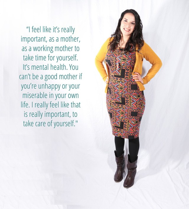 Roxana shares her views on working in motherhood on A Well Crafted Party - Photo by www.mommabearmag.com