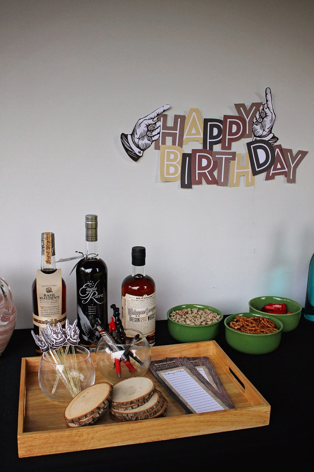 Whiskey Tasting Party from A Well Crafted Party