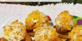 Easy Holiday Appetizer: Goat Cheese, Honey, Apricot, & Almond Balls on Gingersnap Cookies - A Well Crafted Party