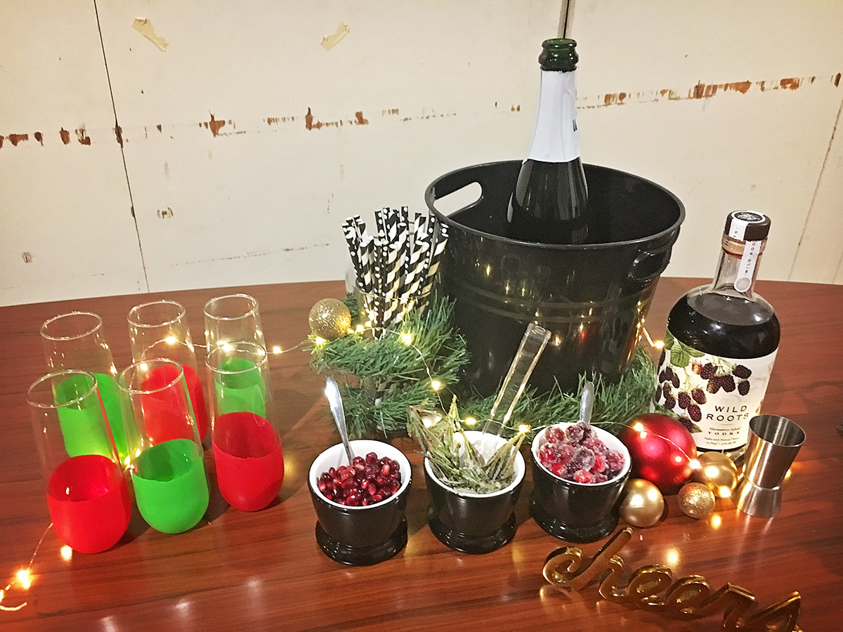 Holiday Drink Bar - Behind the Scenes - A Well Crafted Party