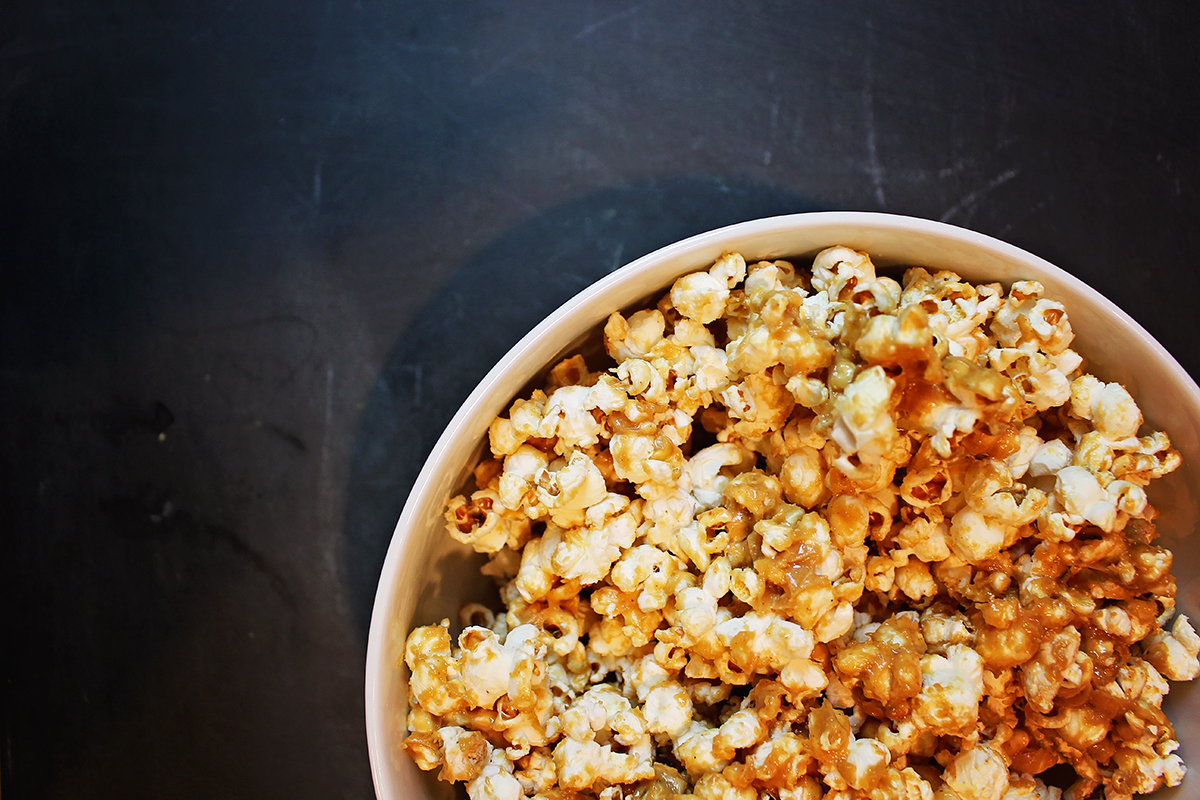 Peanut Butter Honey Flavored Popcorn - A Well Crafted Party