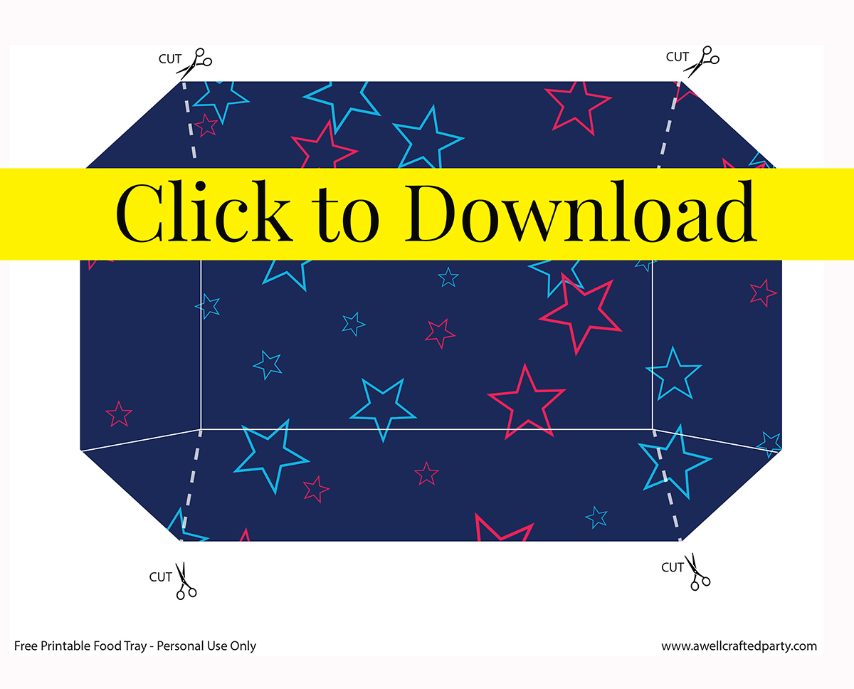 Free Printable 4th of July Food Tray   A Well Crafted Party