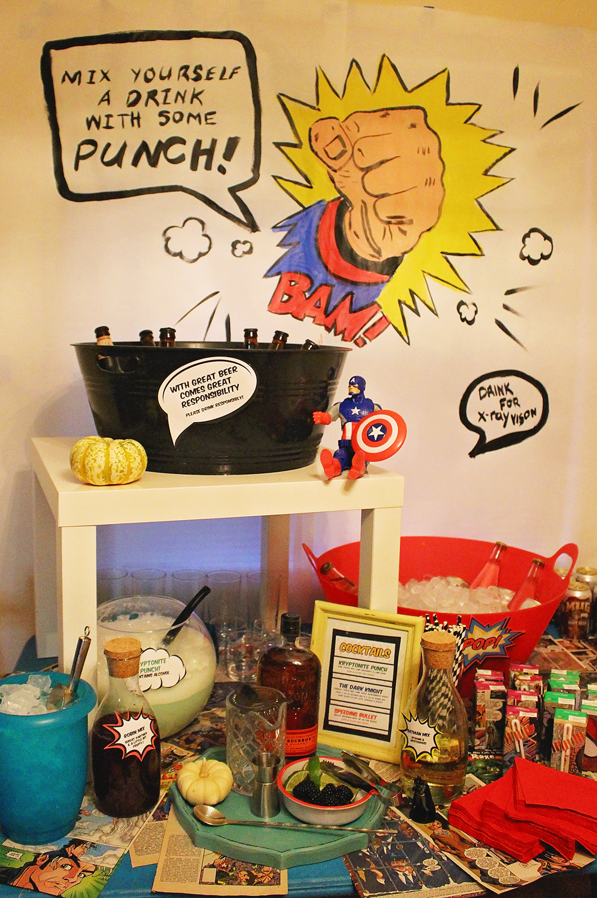 Comic Book Halloween Party | A Well Crafted Party