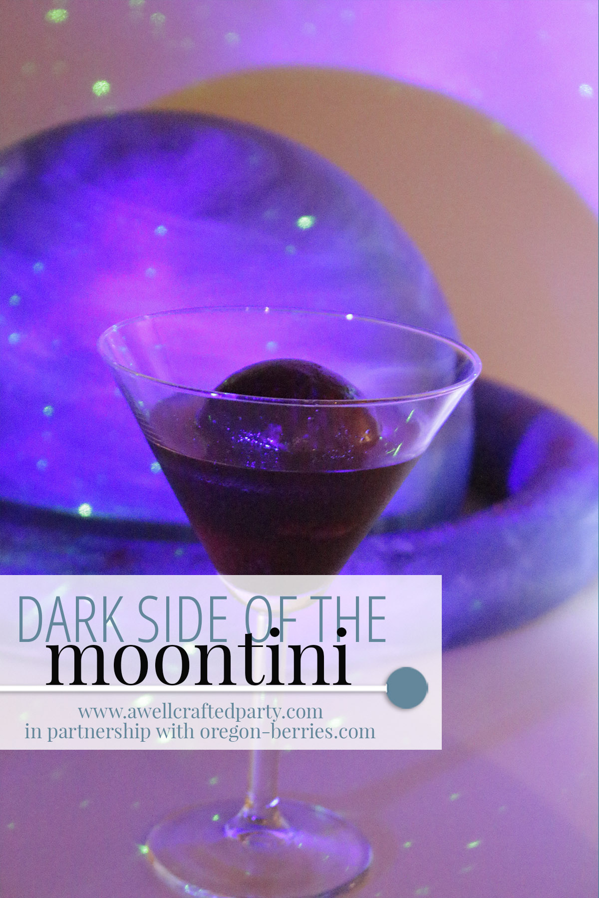 Bourbon and Berry Martini for a Space Themed Party | A Well Crafted Party