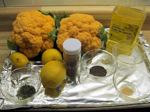 Roasted Orange Cauliflower Ingredients