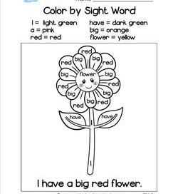 Sight Words and High Frequency Words for Pre-K thru 5th Grade