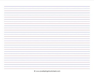 graphic about Primary Writing Paper Printable identified as 25+ Printable Covered Creating Paper Landscape 1 16 Visuals