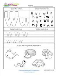 ABC Worksheets - Letter W - Alphabet Worksheets | A Wellspring