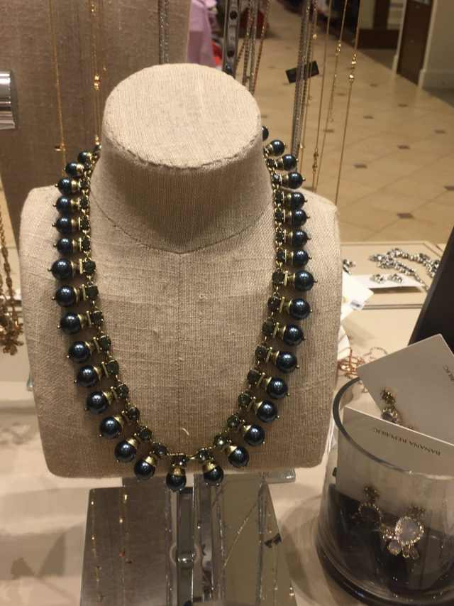 pearl necklace at Banana Republic