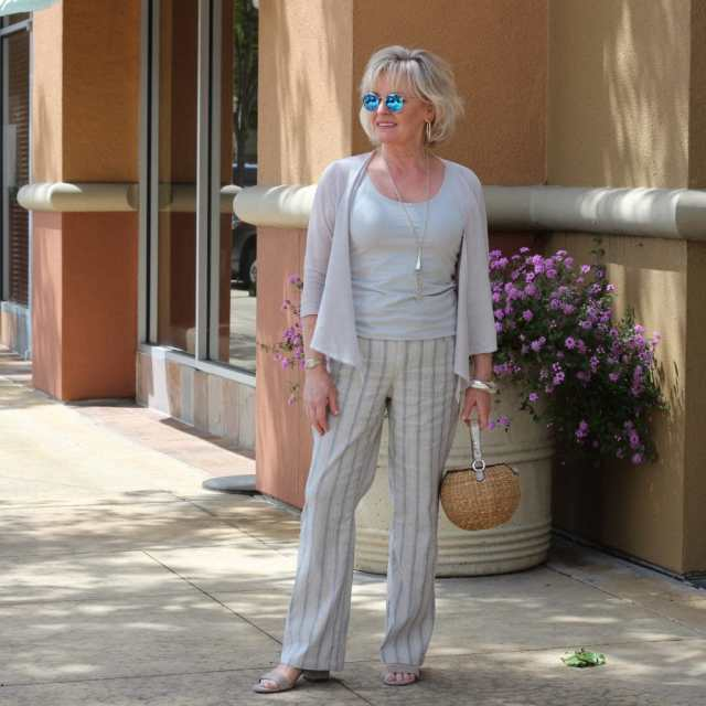 Look of the Week: Linen and Silver
