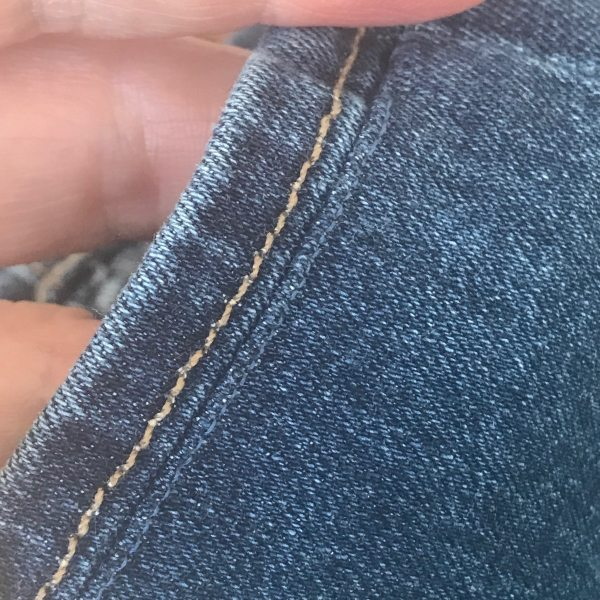 sewing jeans hem on A Well Styled Life