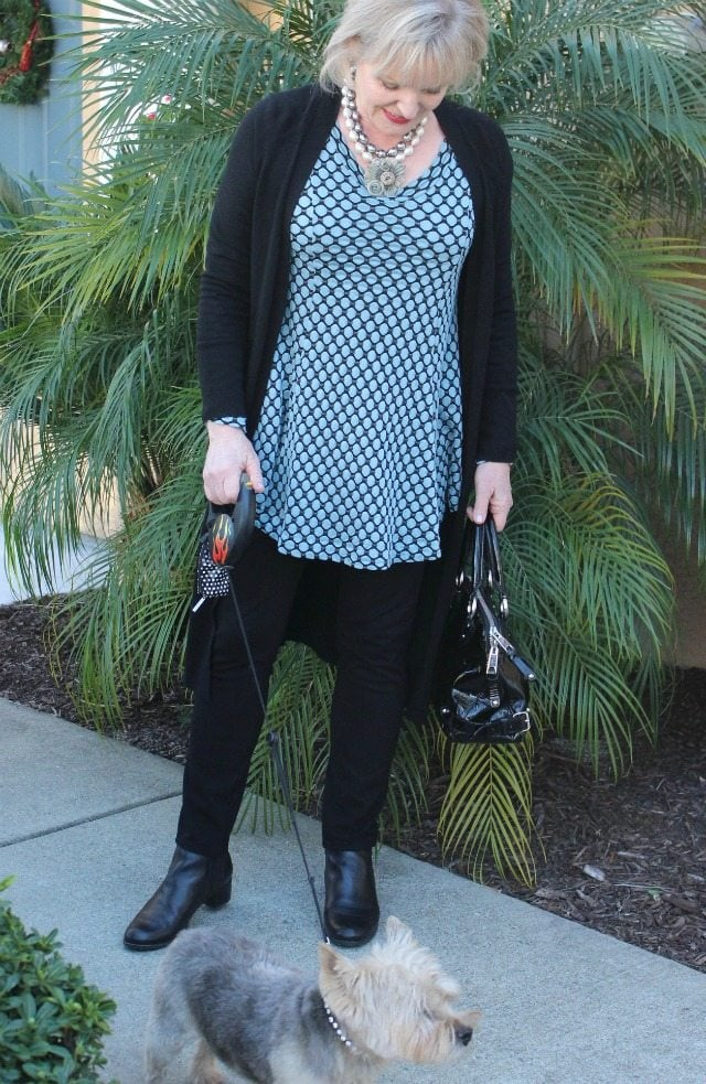 Jennifer Connolly of A Well Styled Life wearing Axis Striped top from Artful Home