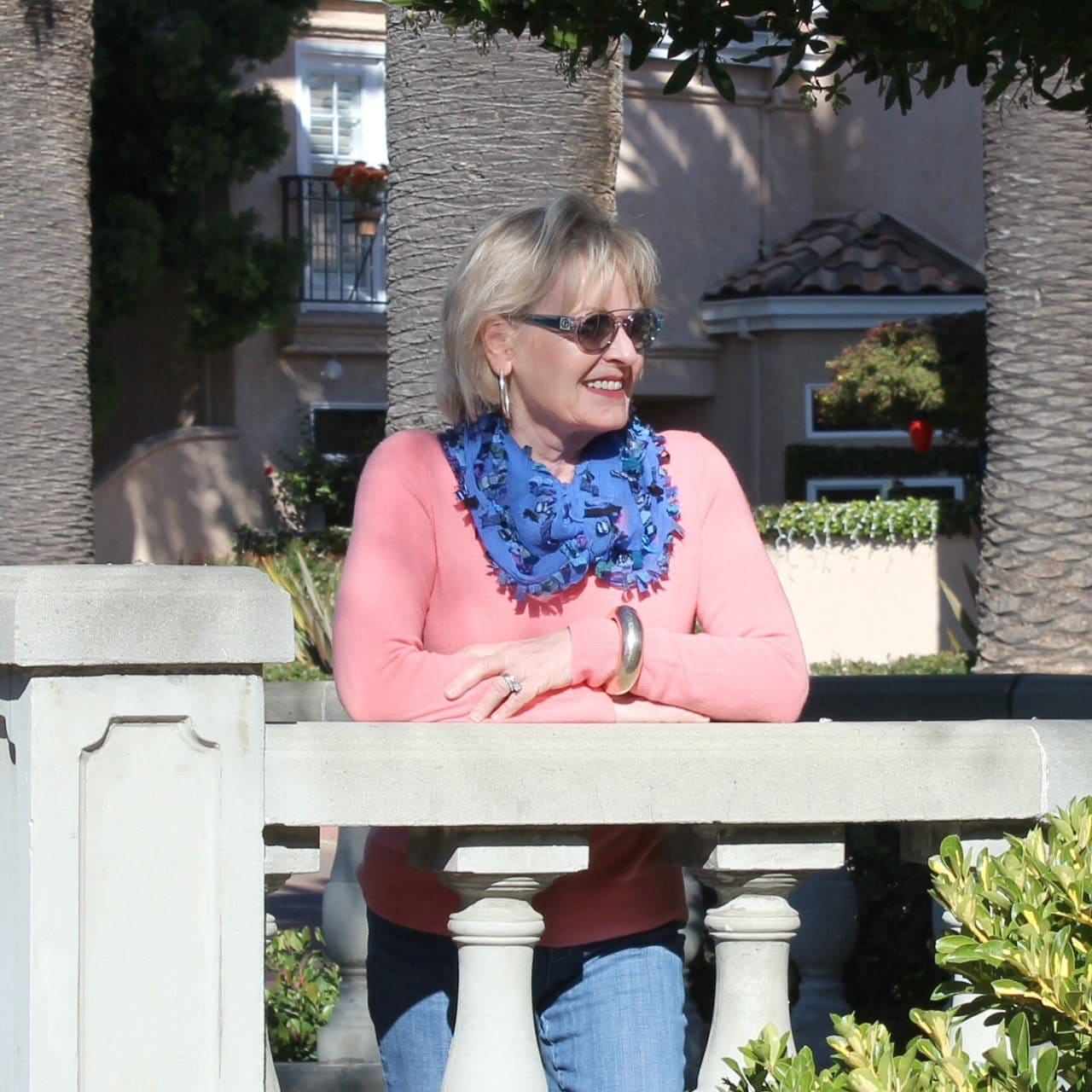 Jennifer Connolly of A Well Styled Life styling cashmere and silk with denim