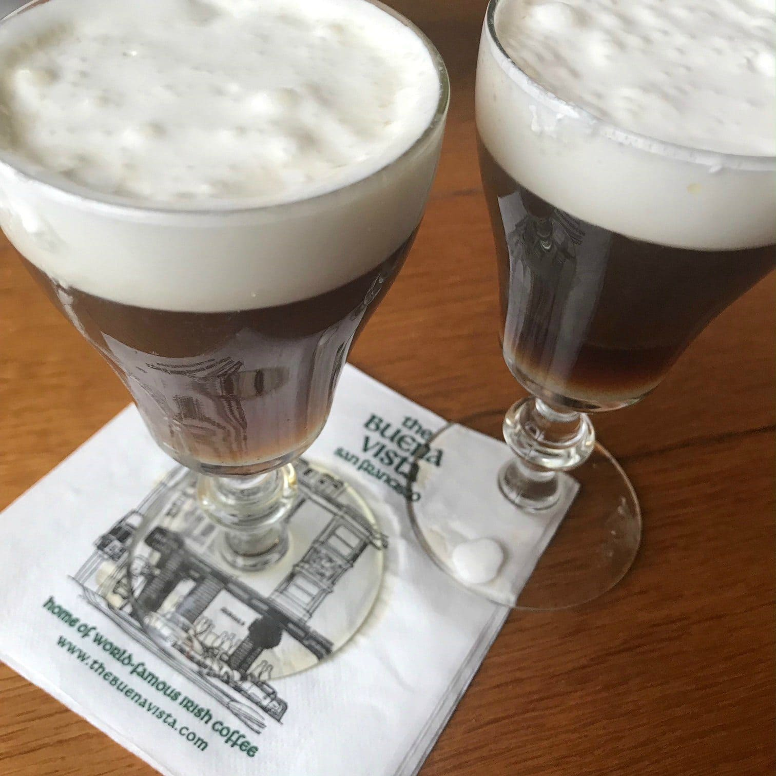 Jennifer Connolly of A Well Styled Life enjoying Irish Coffee at the Buena Vista Cafe