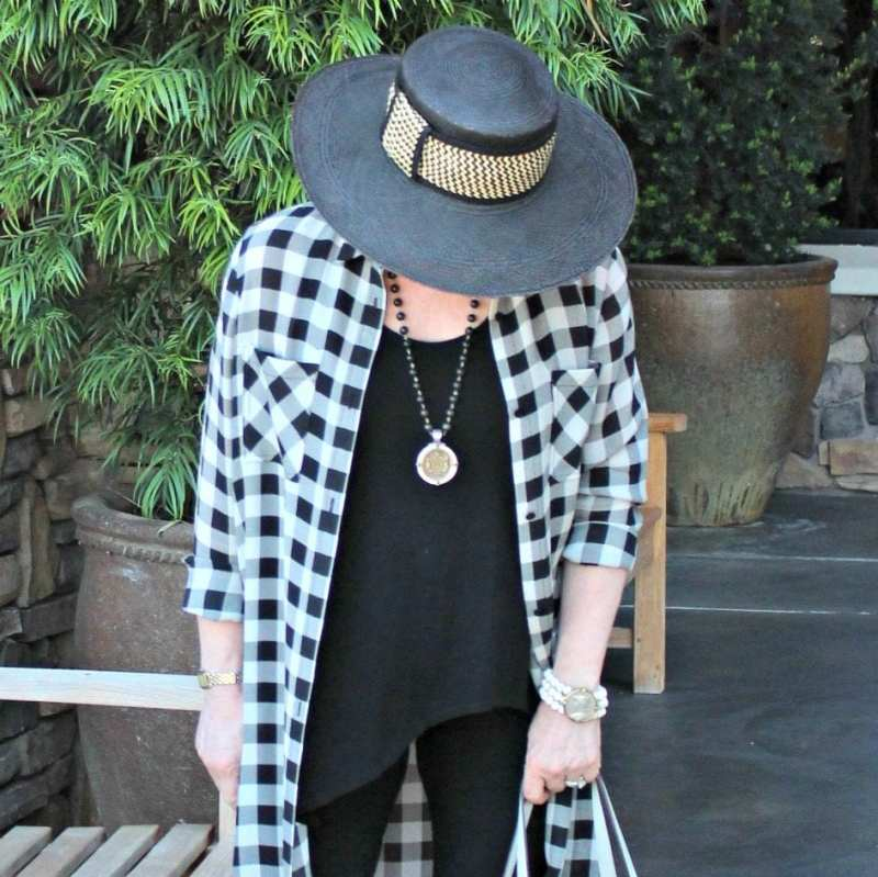 Jennifer Connolly of A Well Styled Life wearing column of black with French Kande
