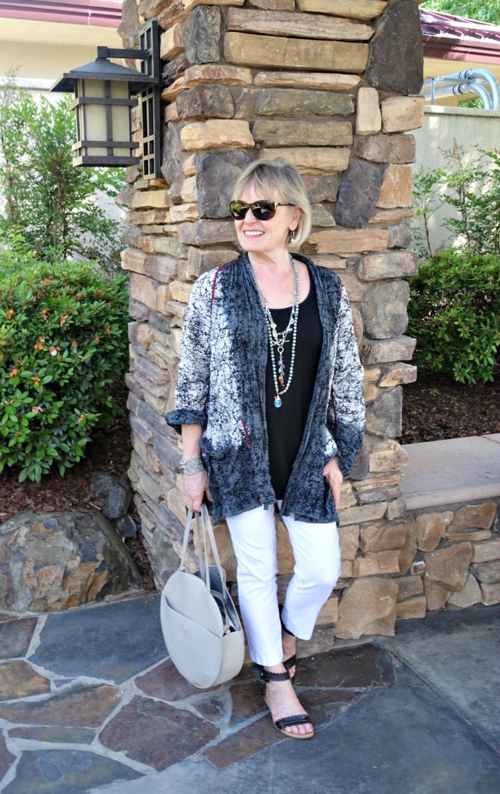 Jennifer Connolly of A Well Styled Life wearing Montreal Pant from Artful Home