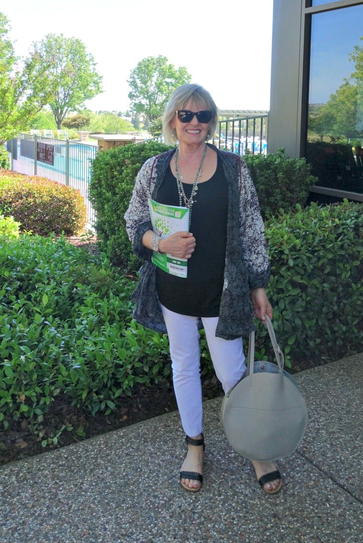 Jennifer Connolly of A Well Styled Life wearing Artful Home
