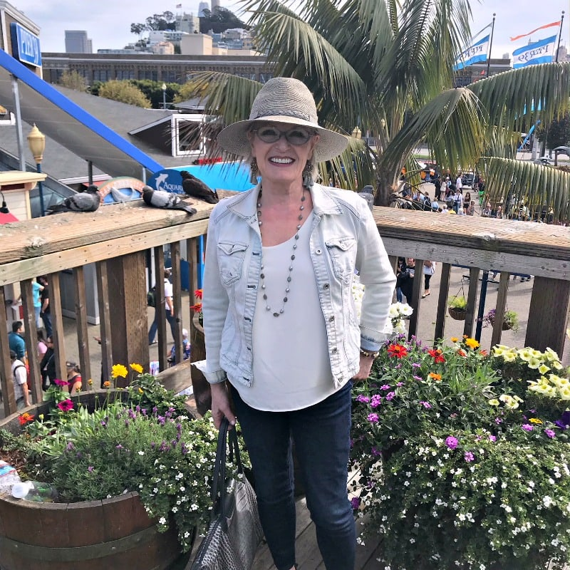 Jennifer Connolly of A Well Styled Life at Pier 39 in San Francisco