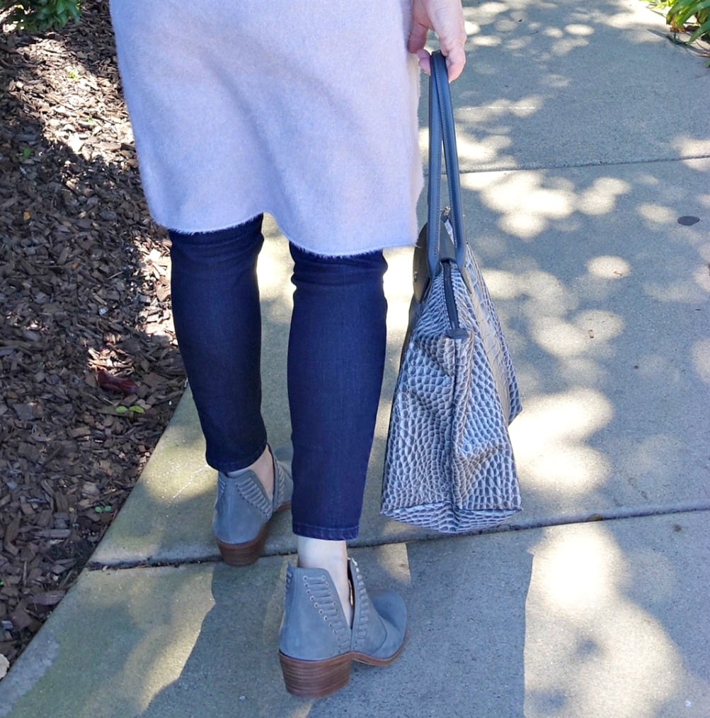 Jennifer Connolly of A Well Styled Life wearing Vince Camuto Pevista booties from Nordstrom