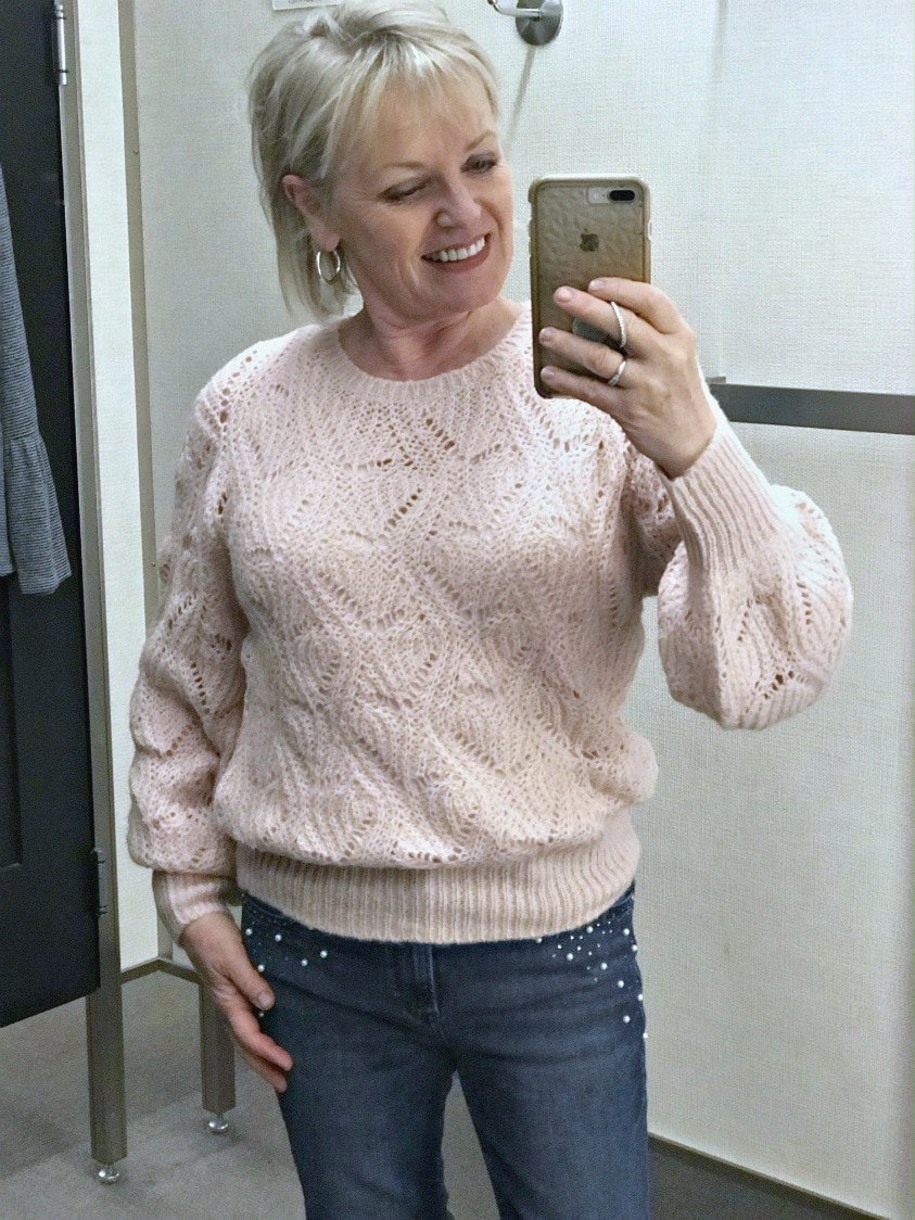 Jennifer Connolly styling the Rip Curl sweater from Nordstrom