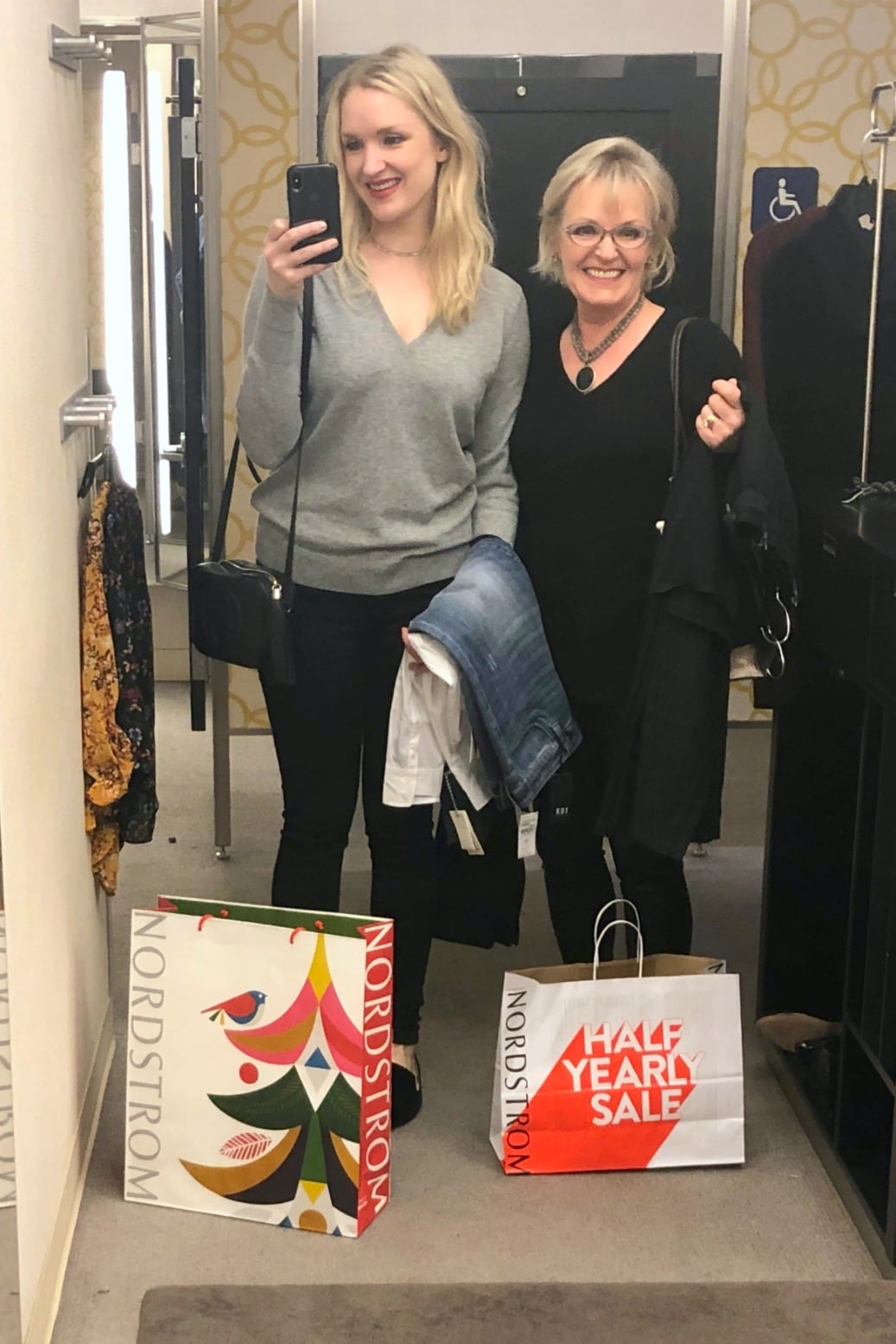 Jennifer and Vanessa Connolly shopping at Nordstrom