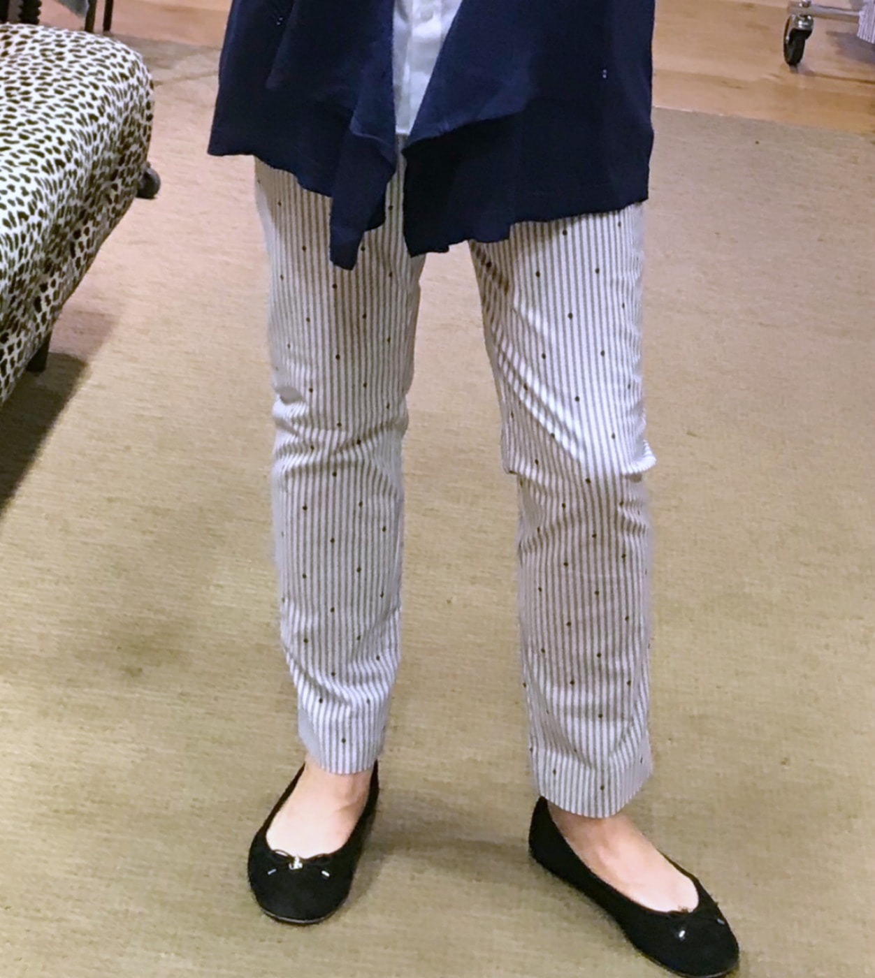 Jennifer of A Well Styled Life wearing Bridgette Dot pant from Chico's