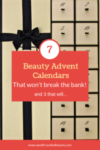 7 of the Best Beauty Advent Calendars that won't break the bank www.awelltravelledbeauty.com