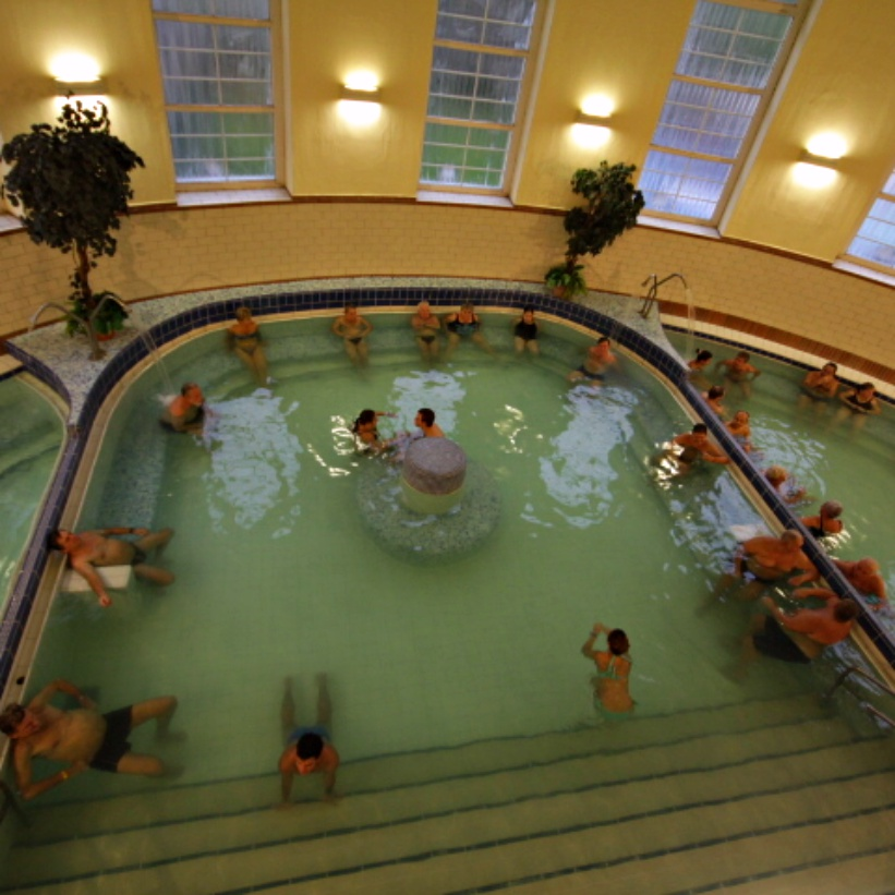 """Veli Bej A Guide to Budapest Thermal Baths. Bathing in thermal waters has been part of everyday life in Budapest for centuries. Officially named """"The City of Spas"""" which of Budapests baths should you visit. www.awelltravelledbeauty.com"""