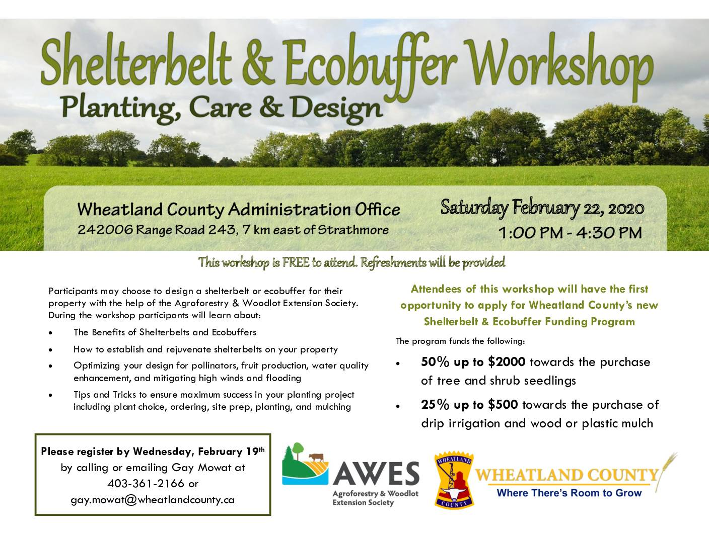 Shelterbelt And Eco Buffer Workshop Planting Care And