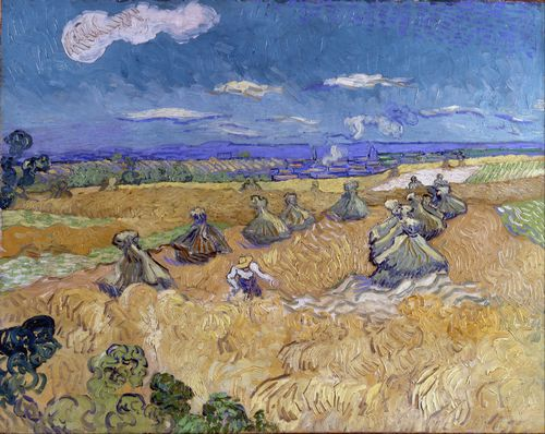 Van Gogh - Wheat Fields with Reaper at Auvers