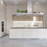 White Kitchen Marble Floor Awesome Decors