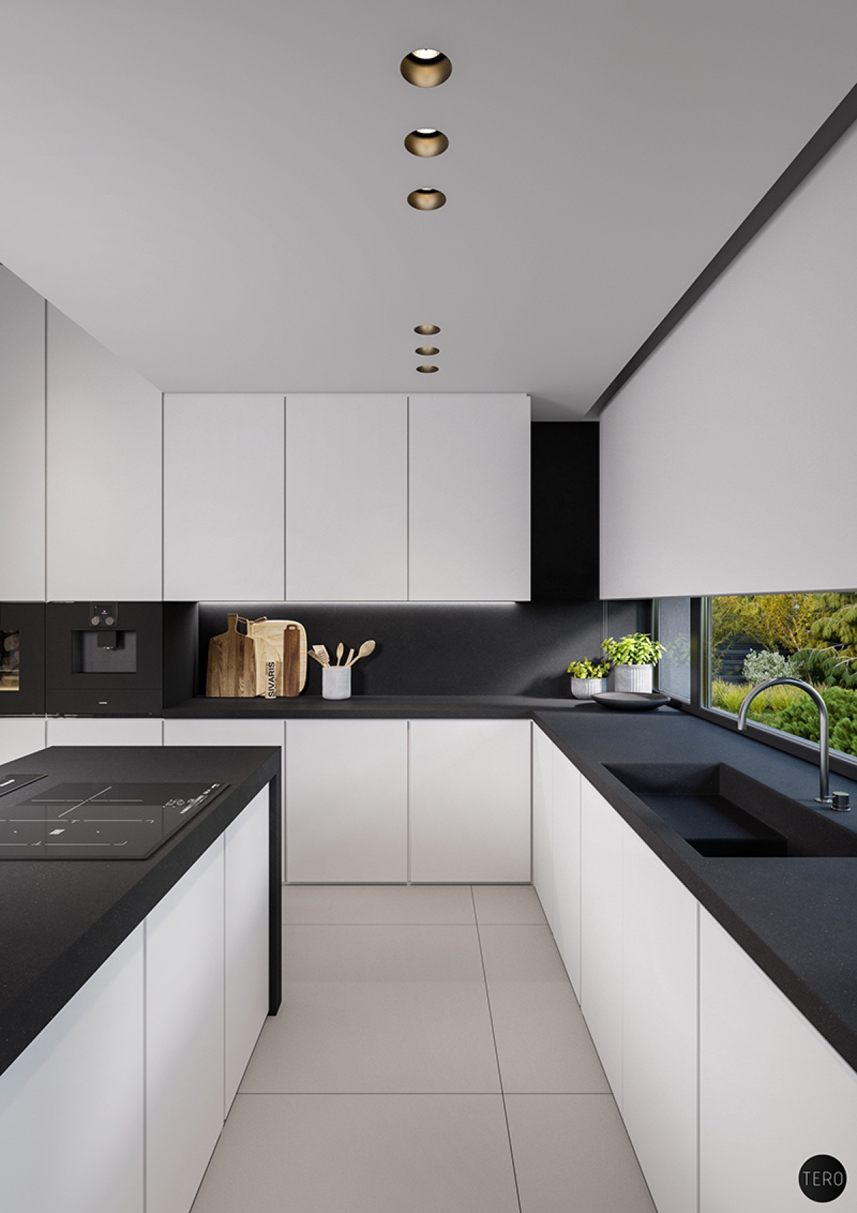 Black Countertops In White Kitchen Awesome Decors