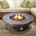Peaktop Outdoor Polyresin Propane Gas Fire Pit Reviews Wayfair Inside Outdoor Propane Fire Pit Awesome Decors