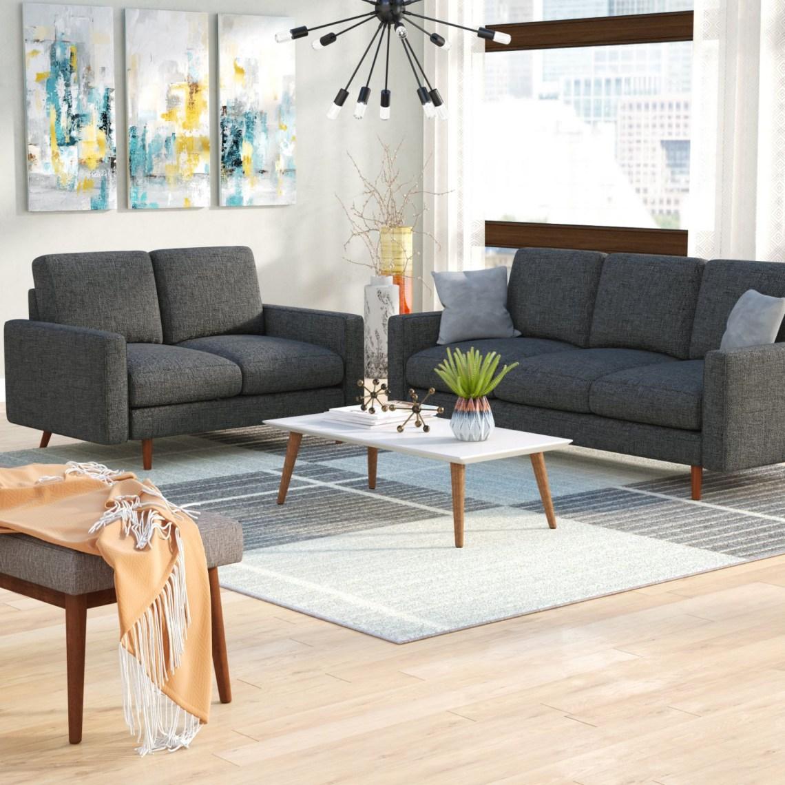 Wrought Studio Macsen 2 Piece Living Room Set & Reviews ...