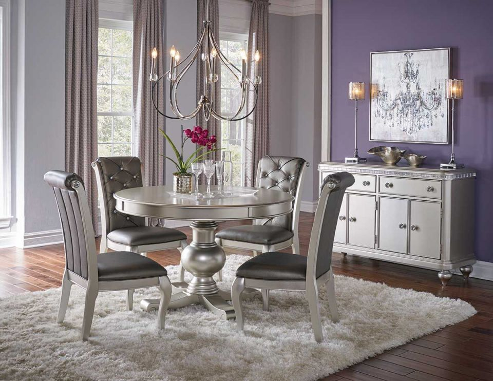 Hefner Silver 5 Piece Dining Set With Regard To Beautiful Dining Room Sets Awesome Decors